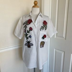 Honey Bee Button Down Blouse